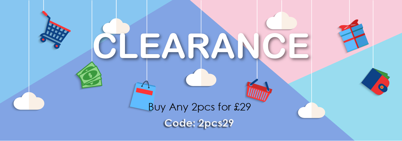 CLEARANCE SALE: Buy 2 for £29