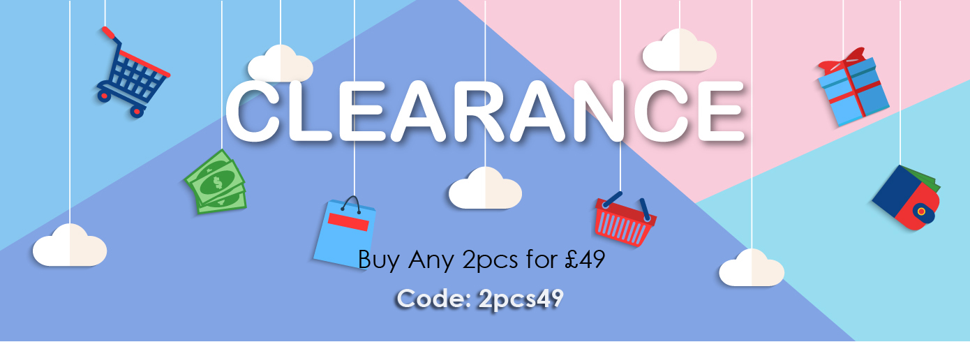 CLEARANCE SALE: Buy 2 for £49