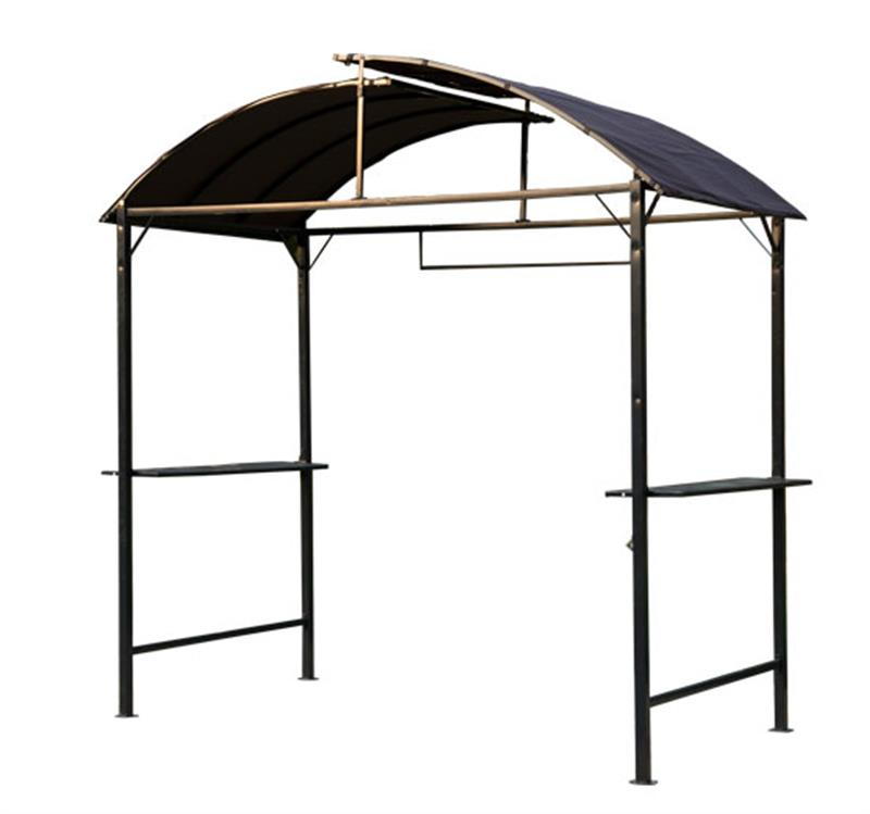 Image of £99.99 Outsunny Metal Gazebo Marquee-Coffee / Smoking Marquee Garden Patio BBQ Tent Grill Canopy Awning Shelter - Black 01-0876 5060348506300