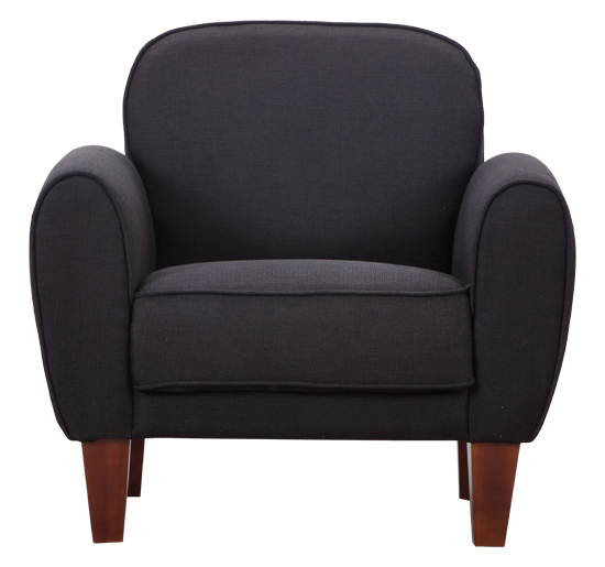 97 99 Homcom Linen Fabric Armchair Black Single Armchair Tub Chair