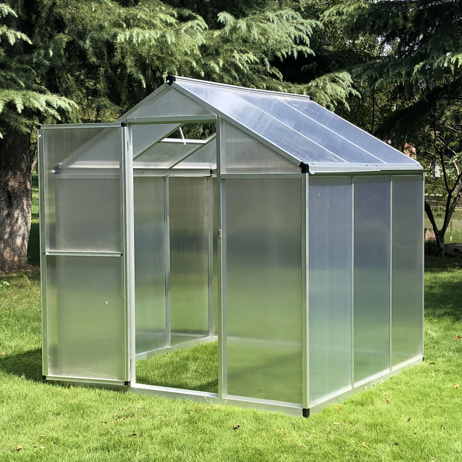 Outsunny 182x190x195cm Clear Polycarbonate Sheet Walk-In Greenhouse