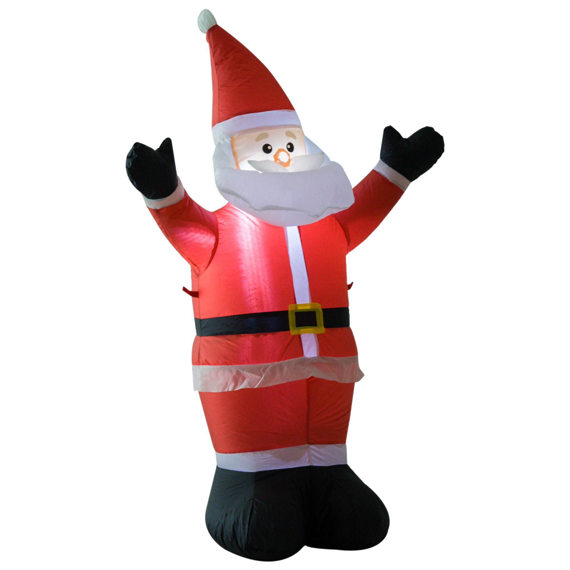 Image of £21.99 HOMCOM Inflatable 1.2m Santa Claus / Christmas Xmas Decoration 3 LED Holiday Air Blown Yard Outdoor Décor Tall Airblown Welcoming 844-159 5056029802748