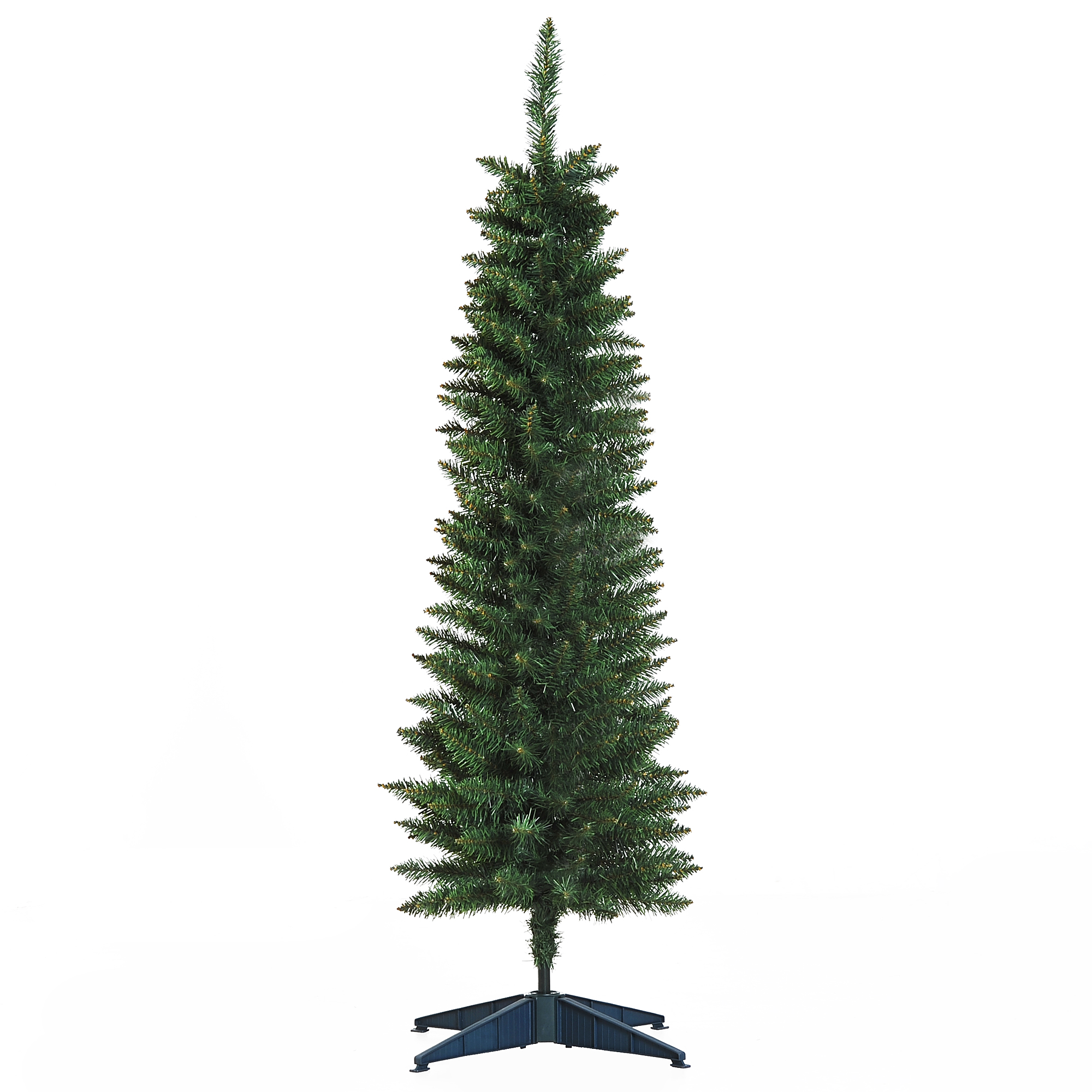 Image of £16.99 HOMCOM Artificial Pine Tree, 1.5m, Plastic Stand / 1.5m 5ft Pencil Slim Tall Christmas Tree with 294 Branch Tips Xmas Holiday Décor W/ 830-195 5056029806937