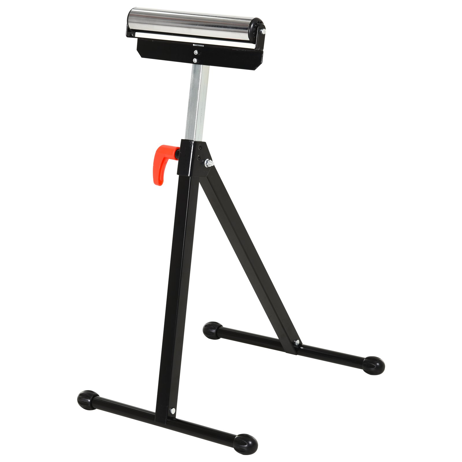 HOMCOM Roller Support Stand Metal Heavy Duty Adjustable Foldable Bench Saw Storage