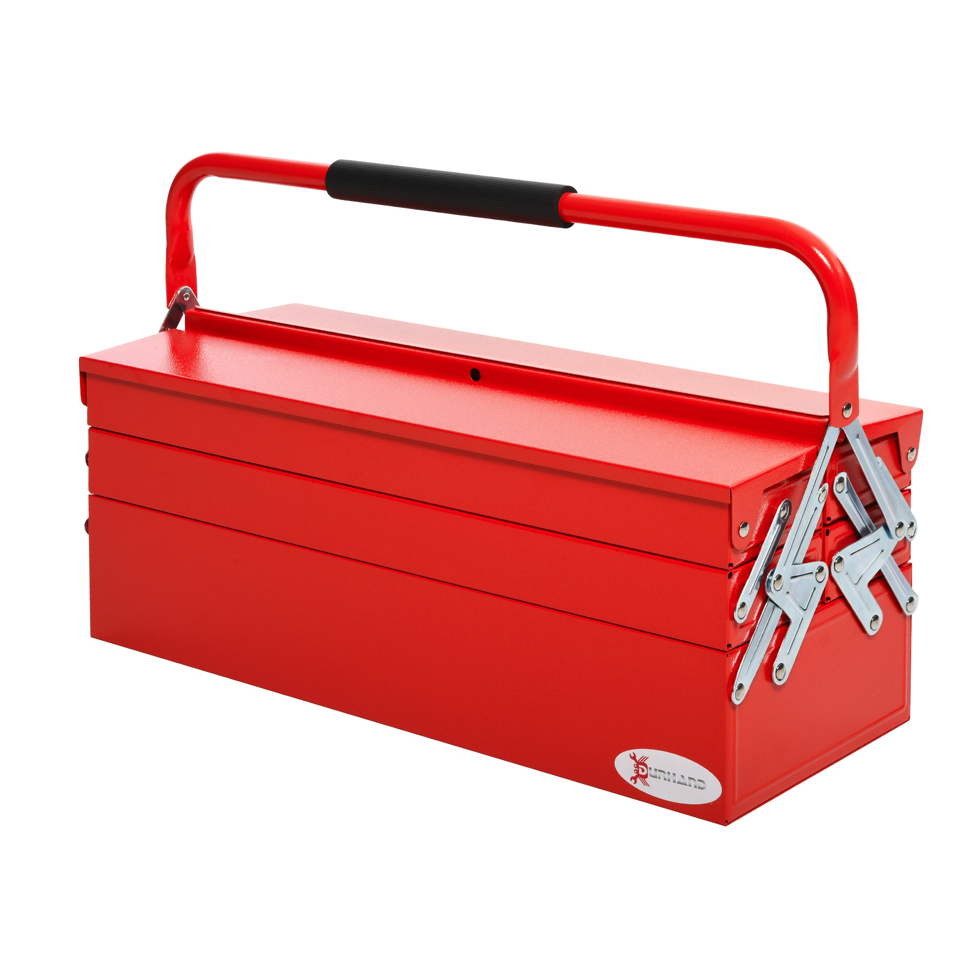 DURHAND Steel 5-Tray Portable Tool Box - Large