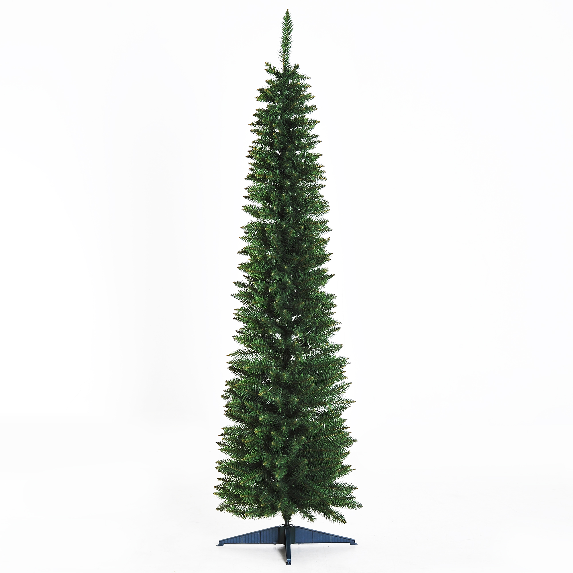 Image of £18.99 HOMCOM Artificial Pine Tree, 1.8m, Plastic Stand / 1.8m 6ft Pencil Slim Tall Christmas Tree with 390 Branch Tips Xmas Holiday Décor Easy Assembly W/ 830-182 5056029806777