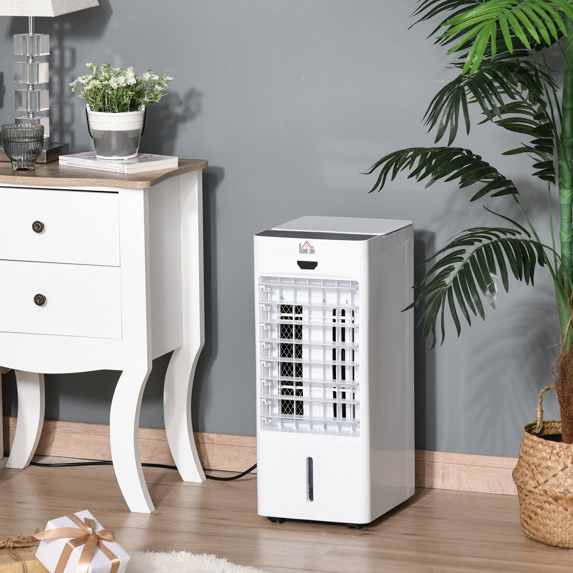HOMCOM Air Cooler Ice Cooling Function 3 Speed 3 Mode 7.5 Timer Ice Box Home Office