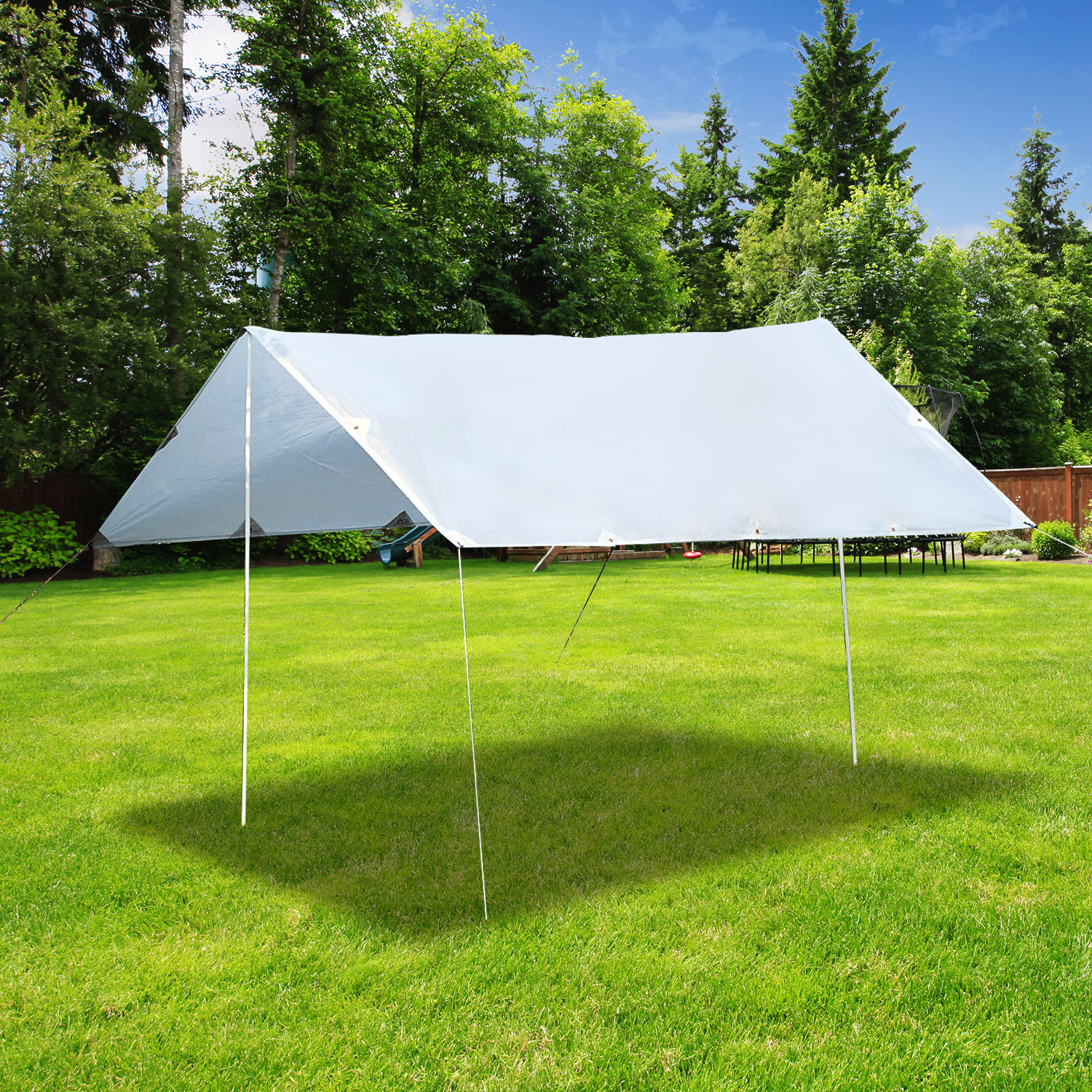 Image of £29.99 Outsunny 430Lx350W cm Waterproof Tent Shelter-Cream White / Sunshade UV Protection Awning Canopy Outdoor Camping Tarp Hiking Shelter (Cream White) 840-132CW 5056029892534