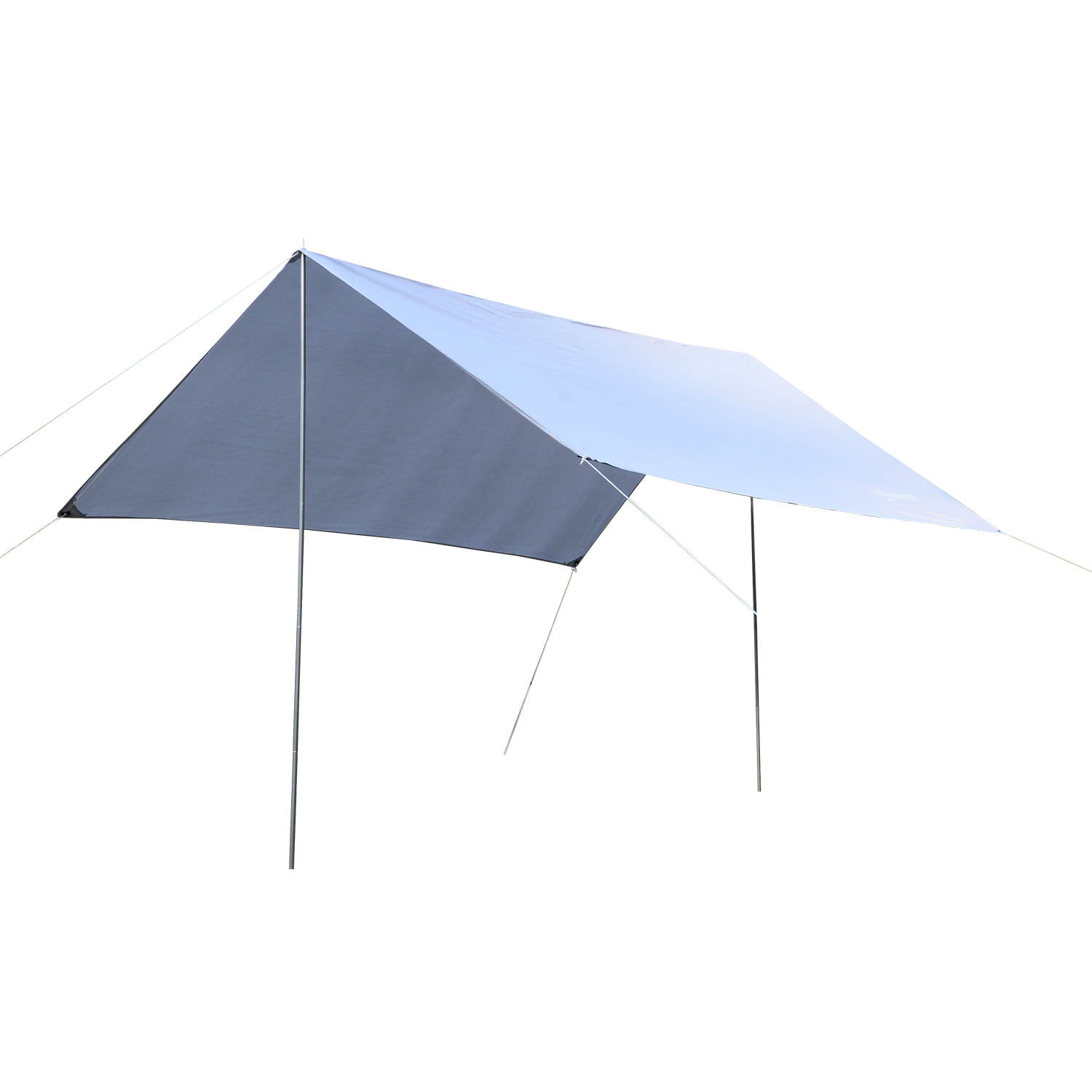 Image of £23.99 Outsunny Tent Shelter, 3x3 m-White / 3 x 3M Rain Fly Camping Tarp Water Resistant Awning Patio Sun shade Hiking Shelter Garden Beach UV Protection w/Backpack - White Sunshade Backpack Camp Travel Hike 840-185WT 5056029889954