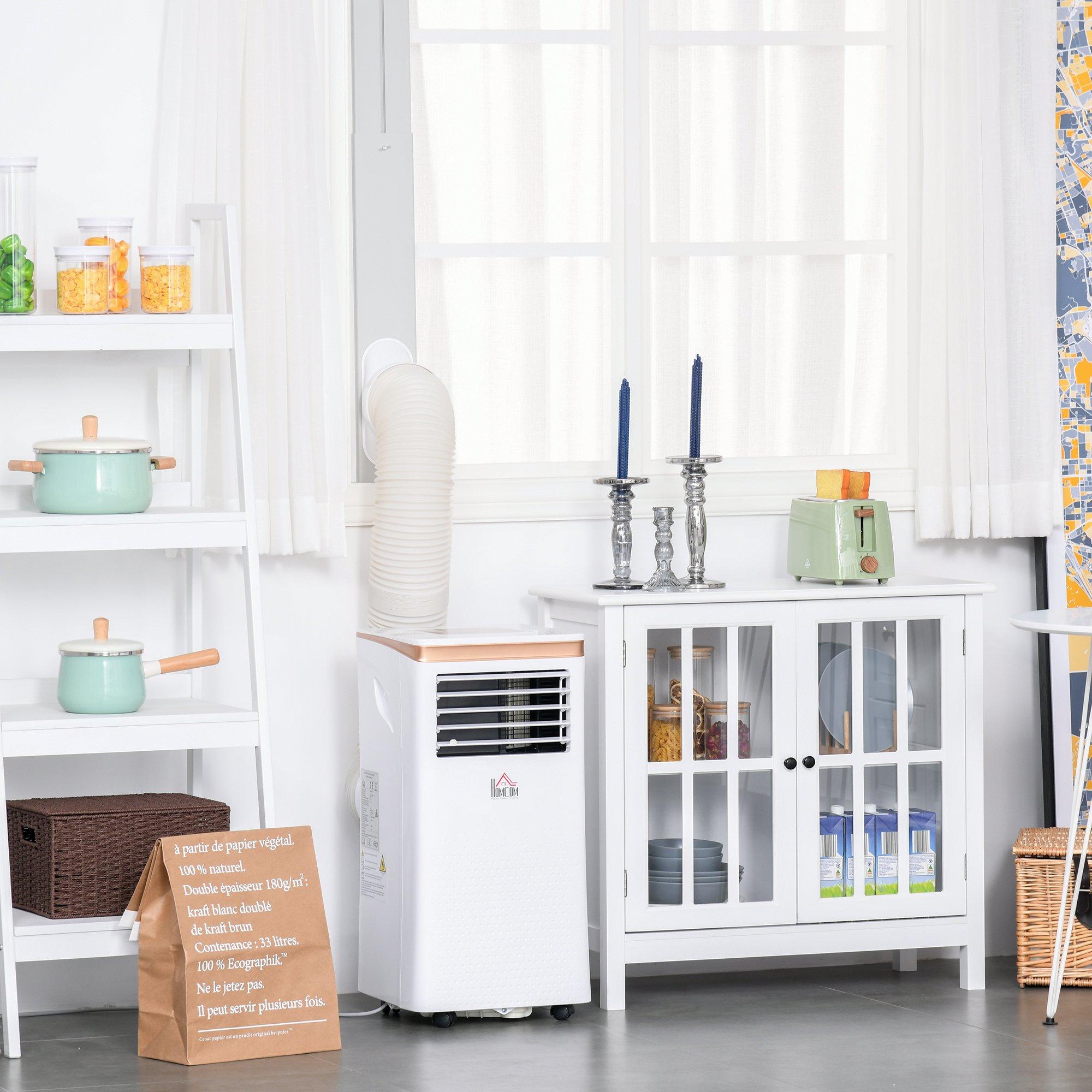 HOMCOM 7000BTU Portable Air Conditioner 4--1 Modes LED Display 24 Timer Home Office