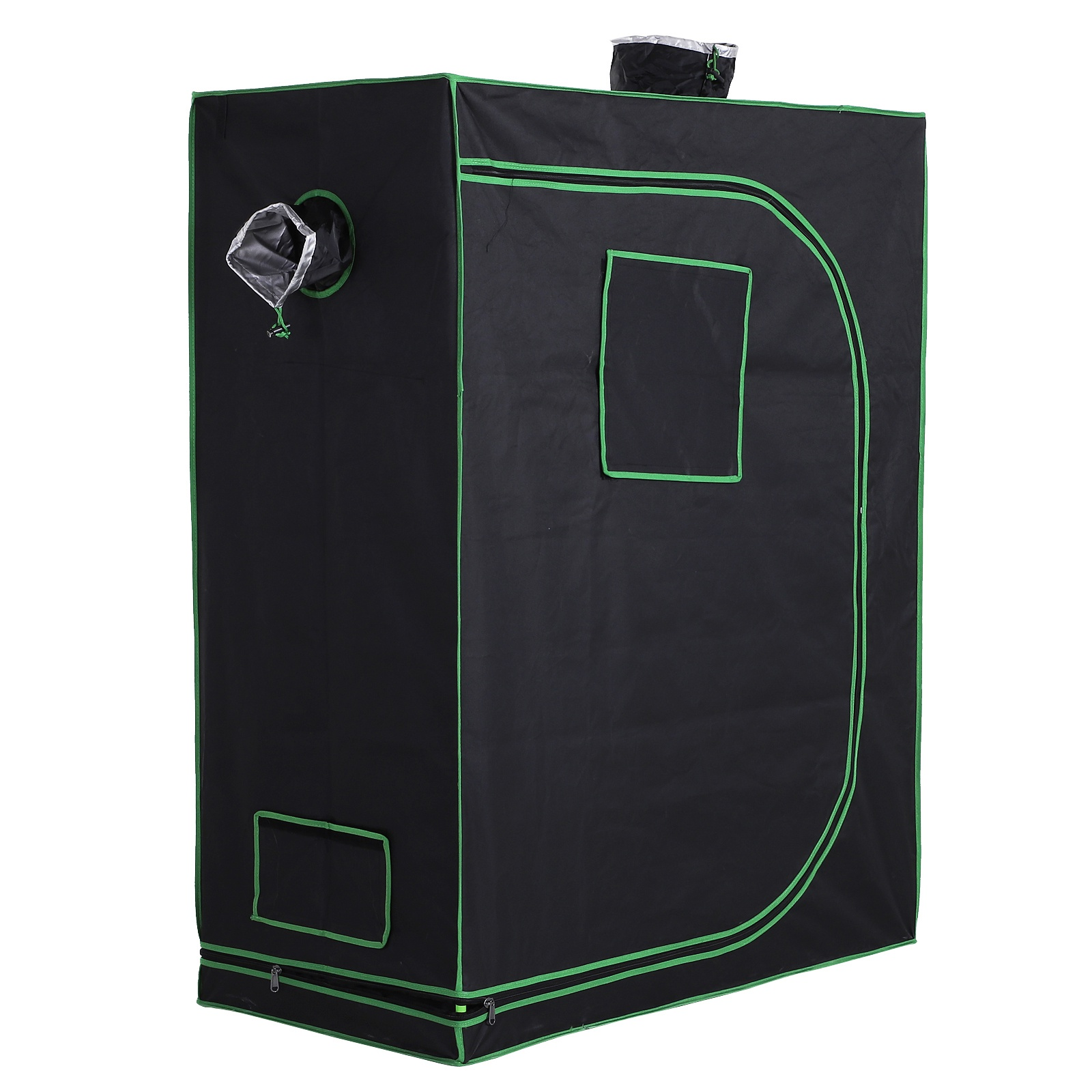 Outsunny Hydroponic Plant Grow Tent Canopy Indoor Reflective Mylar Green Room 600D Oxford 120L x60W x150Hcm Silver