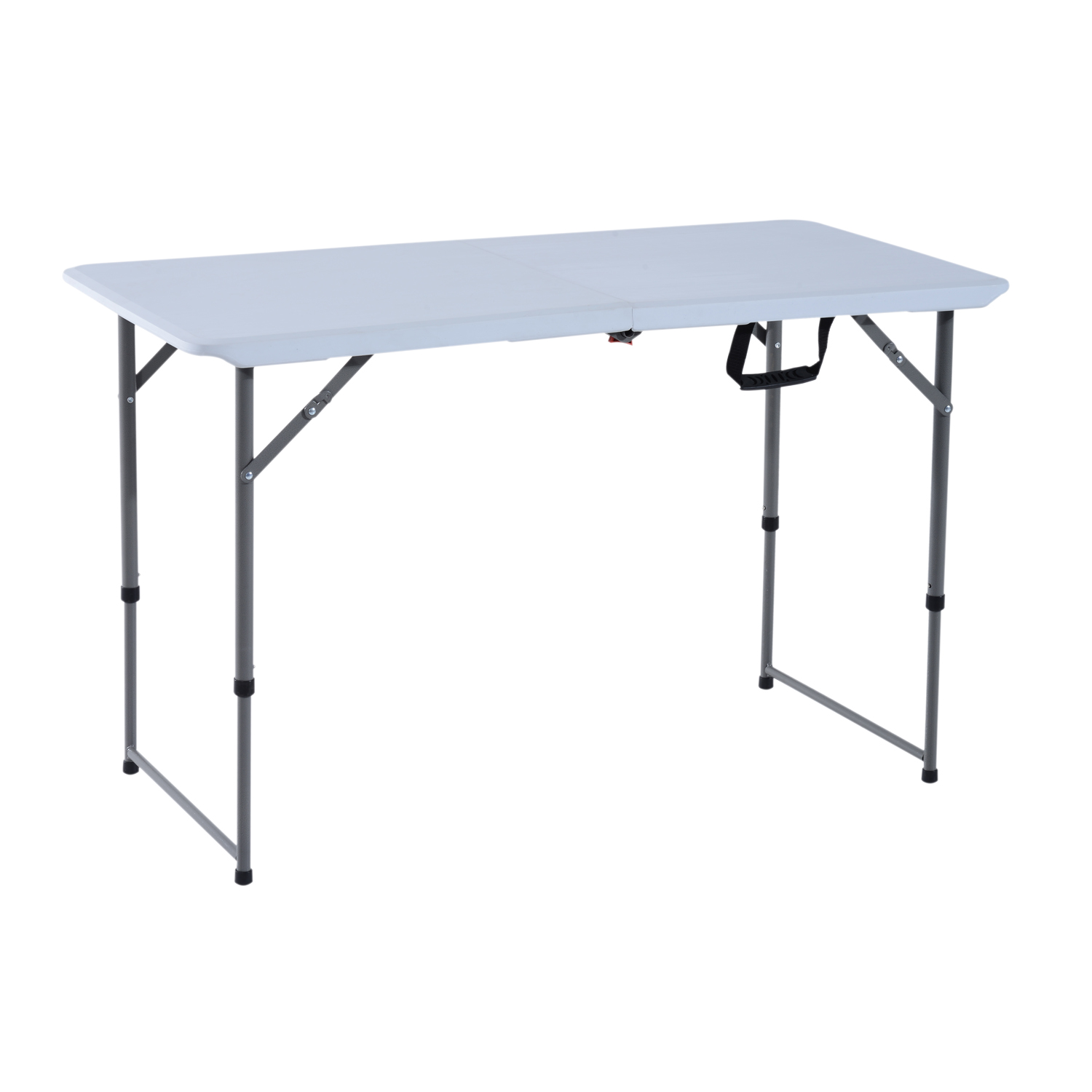 Image of £25.99 Outsunny 120Lx60Wx74H cm Folding Camping Table / 4ft 1.2m Outdoor Garden Party Picnic BBQ Trestle Field Kitchen Height Adjustable Steel 120x60cm 84B-133 5056029891070
